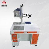 De hoogste Machine die van de Laser van de Vezel van de Snelheid op het Materiaal van het Metaal merken