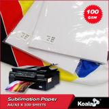 マグ、織物のための優れた100g/125gの速い乾燥した昇華転写紙