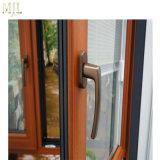Diseño europeo revestido de aluminio ventanas de madera con Hardware de Alemania
