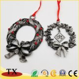 Custom металлические Рождество повесить орнамент на новогодние подарки оформление продуктов