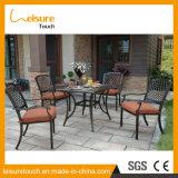 Última exterior em alumínio fundido Patio mesa e cadeira Jardim Mobiliário de Ajuste