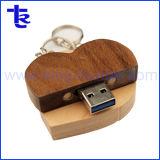 Деревянные в форме сердечка мед флэш-накопитель USB для рекламных подарков