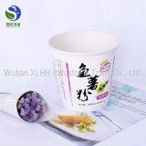 Retirar o recipiente de papel de macarrão chinês com a cor e o logotipo personalizado