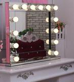 Estilo de Hollywood iluminado LED Acabado de Espejo Espejo de maquillaje usar