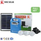Whc 6V5w Kit de Energía Solar LED recargable para acampar