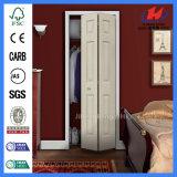 Белой дубовой интерьер кабинета дверь Bifold ламината