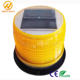 O LED de energia solar rotativo luminoso acende as luzes de sinalização/Vermelho do farol de flash de sinais de trânsito