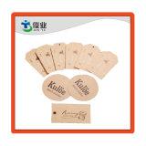 Hangt het kwaliteit Gewaarborgde Gerecycleerde Document van Kraftpapier Markering, hangen de Kleren Markering