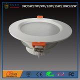 il mini soffitto di alluminio messo LED di stile SMD di 3W 120degree giù si illumina