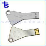 Серебристый Custom лазерная гравировка логотипа основные формы флэш-накопитель USB