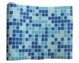 Usine un bleu pur imperméables d'alimentation et la mosaïque des chemises de la piscine en plastique