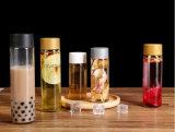 250ml-800ml suco de Bebidas Voss garrafa de água de vidro com tampa de cor