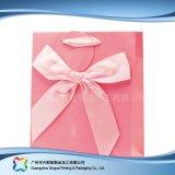 Soporte comercial impreso personalizado Embalaje de regalo bolsa de papel (XC-bgg-015)