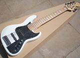 Mayorista de fábrica 24 trastes Fend blanco 6 cuerdas Guitarra eléctrica con circuito activo, diapasón de arce