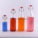 1L de sumo de vidro fermentadas garrafa com o topo do Giro