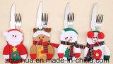 Forcella della Santa della decorazione della cucina di natale e coperchio svegli della lama