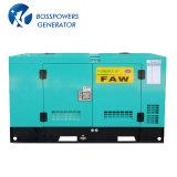FAW 엔진 디젤 엔진 발전기 세트 디젤 Genset에 의해 강화되는 50Hz 80kw 100kVA Water-Cooling 침묵하는 방음