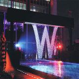 Design especial luz LED colorido interior ou exterior da cortina de água
