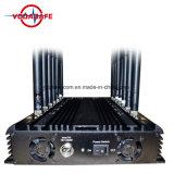 16 de alta potencia poderosa antena VHF UHF WiFi GPS 3G Mobile Phone Jammer, potente 3G Jammer Teléfono Móvil de control remoto para militares