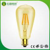 L'ambre style Vintage pendentif en verre lumière Filament ST64 Ampoule de LED