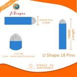 Uの形18は3D Microbladingのための0.18 mmの入れ墨の眉毛の針をピンで止める