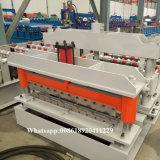 Uitgevoerd Rusland 1030 Tegels die van de Stap van het Dak van het Staal van de Kleur Machine vormen