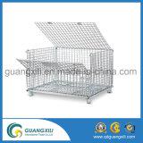 Recipiente da gaiola do armazenamento do engranzamento de fio do metal da capacidade elevada