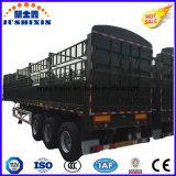 Venda quente do reboque do caminhão da estaca dos eixos 34t do ISO CCC 3