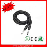 6.35mm Stereo to 6.35mm Stereo Plug Cable