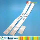 Un Wristband de papel disponible clásico del uso MIFARE 1K RFID del tiempo