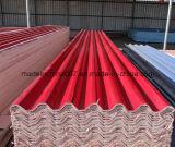 Mattonelle di tetto ondulate del magnesio di colore rosso