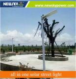 50W 12Wのセリウム、RoHSが付いている情報処理機能をもったオールインワン太陽街灯