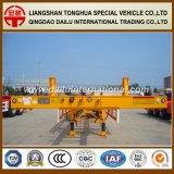 De 3-assen van Ctsm 48FT Semi Aanhangwagen Chssis van het Skelet van de Container de Gele