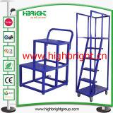 Foldable鋼鉄上昇のプラットホームの梯子のカート