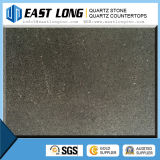 Big Grain Mirror Black Artificial Quartz Stone / Quartz Stone Countertop