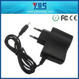 Adaptador de enchufe de pared de la UE 5V 0.5A 2.5*0.7