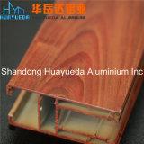 لون خشبيّة ألومنيوم قطاع جانبيّ لأنّ زجاج ينزلق [ويندووس] وباب