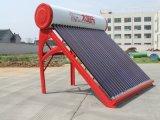 Aço coloridas Unpressurized tubo de vácuo de aquecedor solar de água compacto