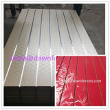 7 en 11 MDF Slatwall van de Melamine van Groeven Comités met Aluminium