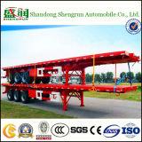 Verkoop van de Aanhangwagen van de triContainer van de As Flatbed, de Aanhangwagens van het Vervoer van de Container