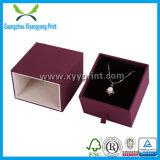 Caja de regalo de joyería de lujo de encargo Caja de joyería de papel de cartón embalaje