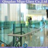 стекло 6mm+6mm плоское Tempered прокатанное для стеклянных перил