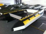 Barco inflável da velocidade do barco de trabalho do catamarã de Liya 3m-4.3m