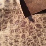 100%Polyester breiend Fluweel met Leer die en Gemakkelijk om het Stof (JL002) te bewegen eruit zien