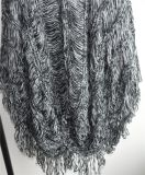 Ladies 100% Acrílico Fancy Yarn Knit Pullover Sweater
