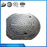 鋳鉄の砂型で作る排水か溝または下水管またはのぞき穴のマンホールカバー