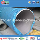 Tubo de aço inoxidável sem costura de 304 304L de grande diâmetro