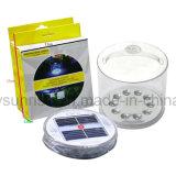 휴대용 LED 태양 에너지 천막 램프 야영 밤 가벼운 팽창식 팩 라이트