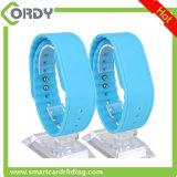 Wristband su ordinazione del silicone NFC di stampa MIFARE RFID