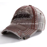 Applique EmbroiderのデニムWashed Sport Cap Baseball Cap